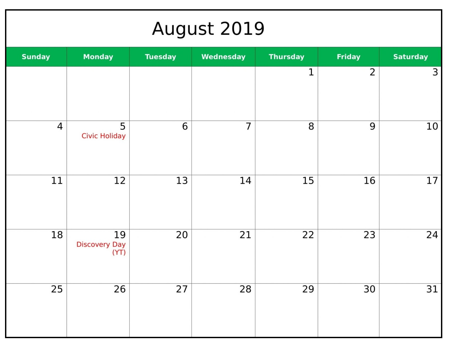 August 2019 Calendar With Holidays.August 2019 Calendar With Holidays Uk Free Printable Calendar