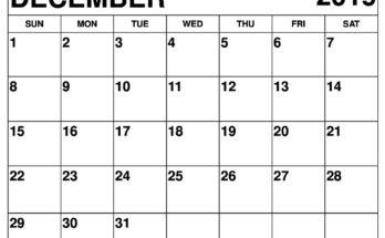 graphic regarding Free Printable Calendar December identified as Cost-free Printable Calendar Template