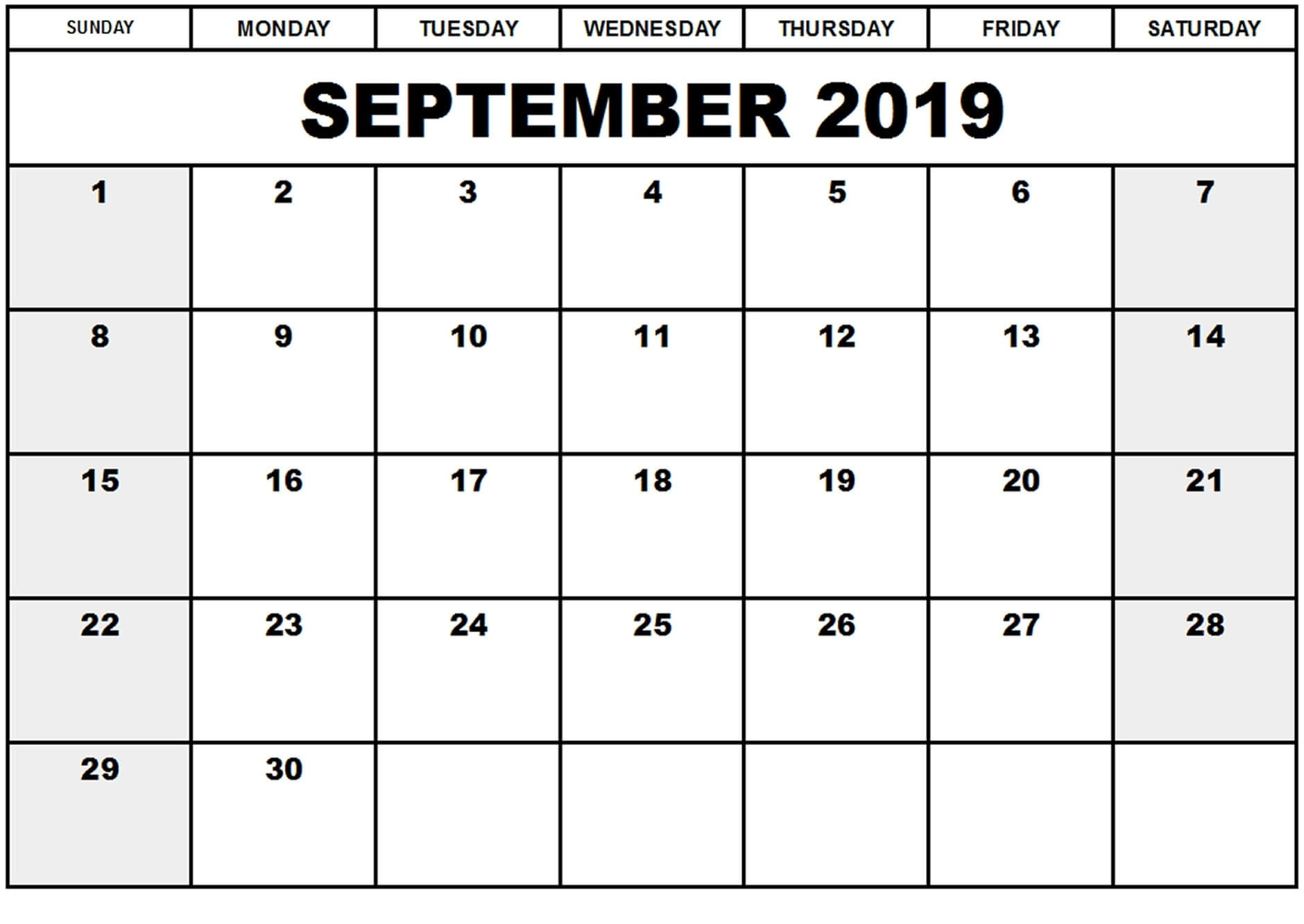 picture about September Printable Calendar identify On the web September 2019 Calendar Canada Holiday seasons Free of charge
