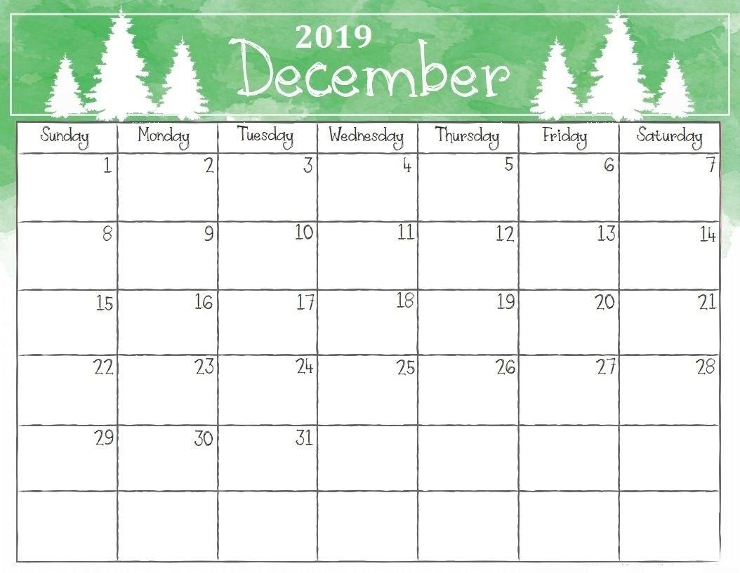 Planner Calendar December 2019 Printable