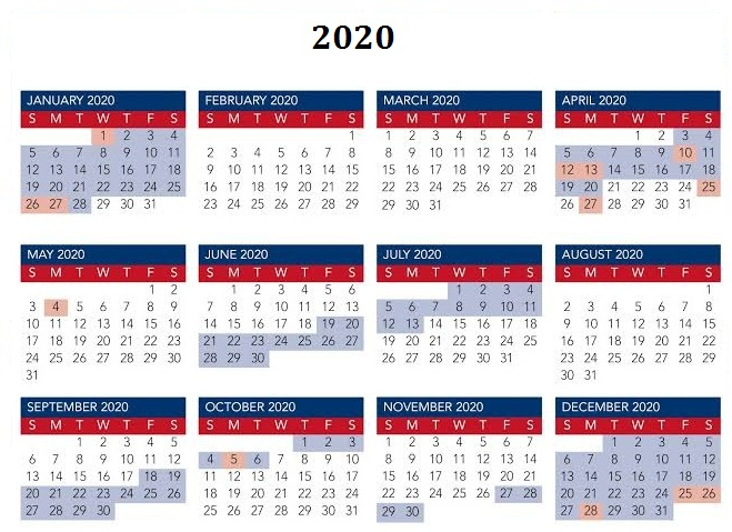 Calendar 2020 Large