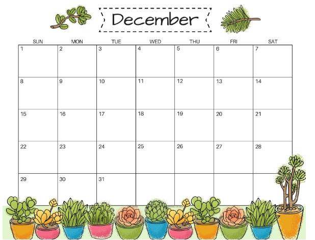 Calendar For December 2019 PDF