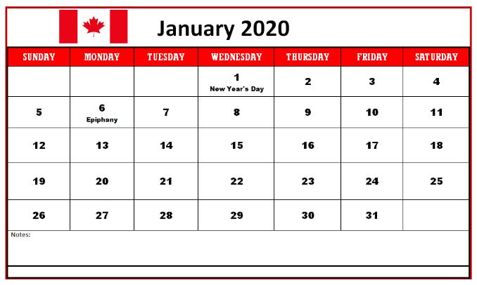 Cute January 2020 Calendar For Friends
