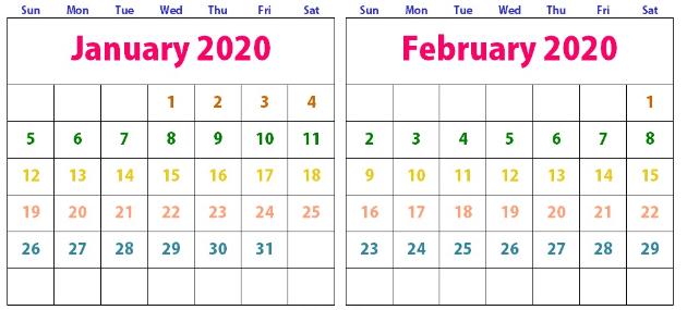 January And February 2020 Calendar (4)
