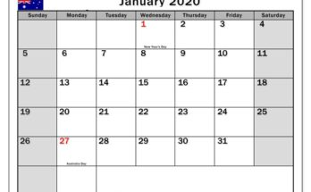 Kids Calendar For January 2020