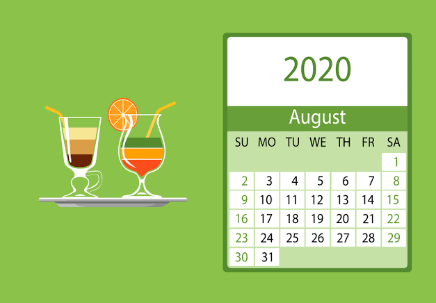 Cute August Calendar 2020