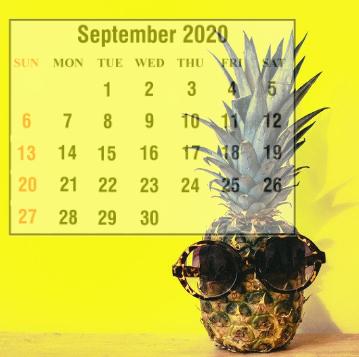 Cute September 2020 Calendar For Children