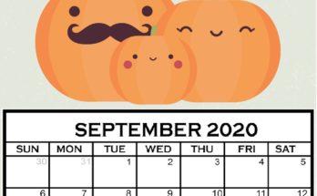 Cute September 2020 Calendar For Kids