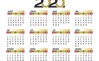 Calendar For 2020 School Year