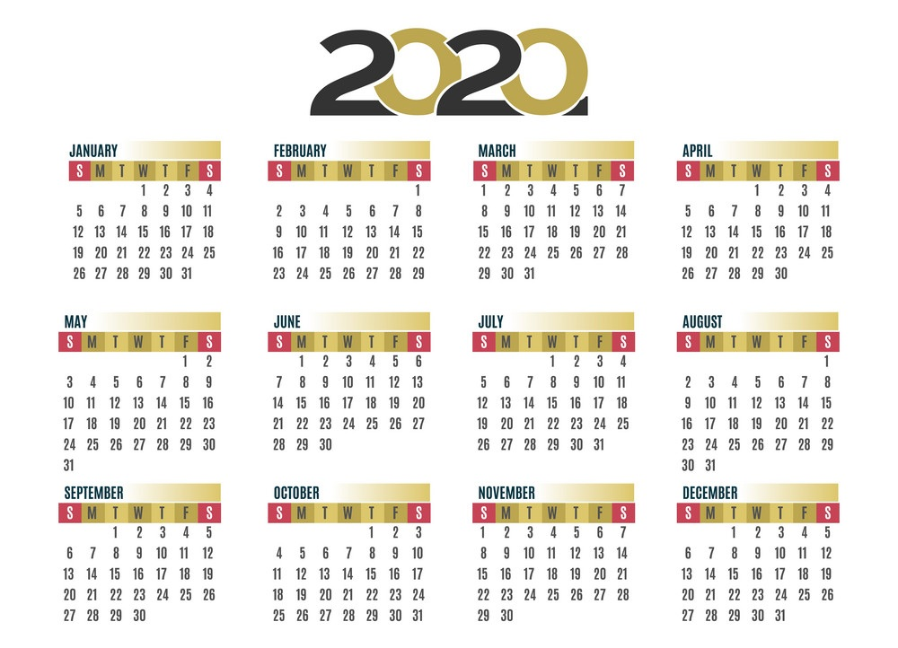 Calendar For 2020 School Year