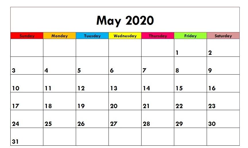 Cute 2020 May Calendar