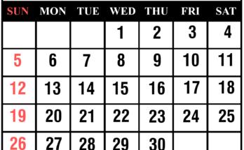 Cute April 2020 Calendar With Holidays