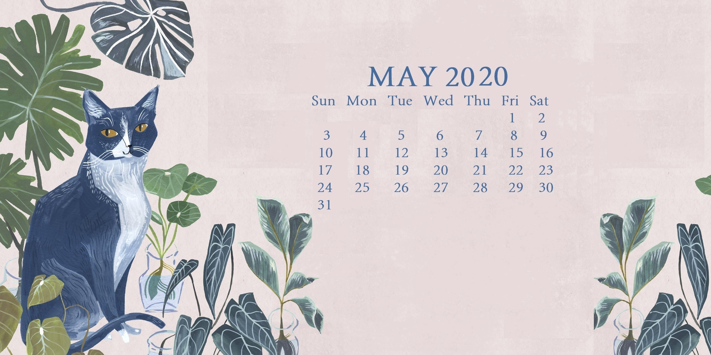 Cute May 2020 Calendar Page