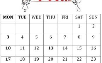 February 2020 Calendar Template PDF