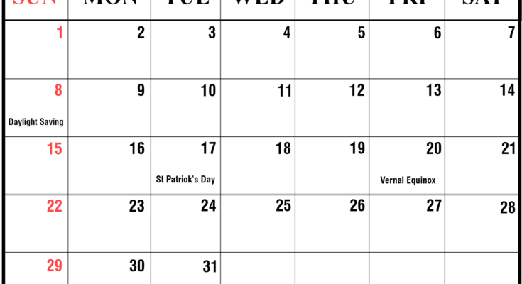 February 2020 Monthly Calendar For Kids