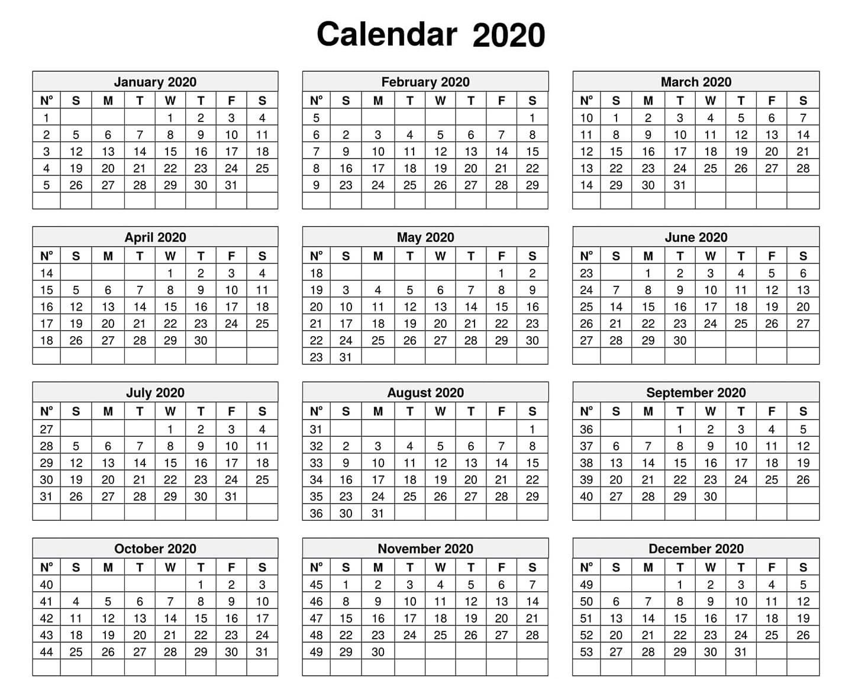 Free 2020 Calendar With Holidays