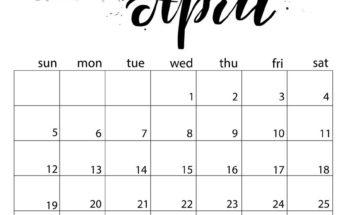 Free April 2020 Calendar PDF
