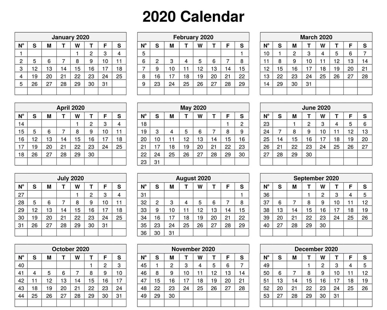 Kids Calendar For 2020