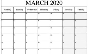 Kids Calendar For March 2020