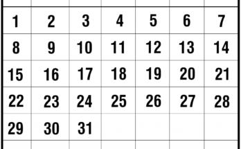 March 2020 Template Calendar