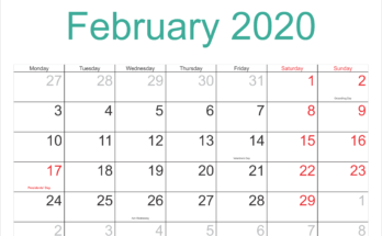 Printable Calendar February 2020 Free