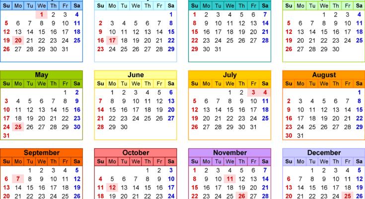 Template Calendar 2020 Download