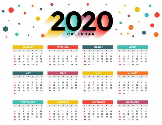 Template Calendar 2020 Layout
