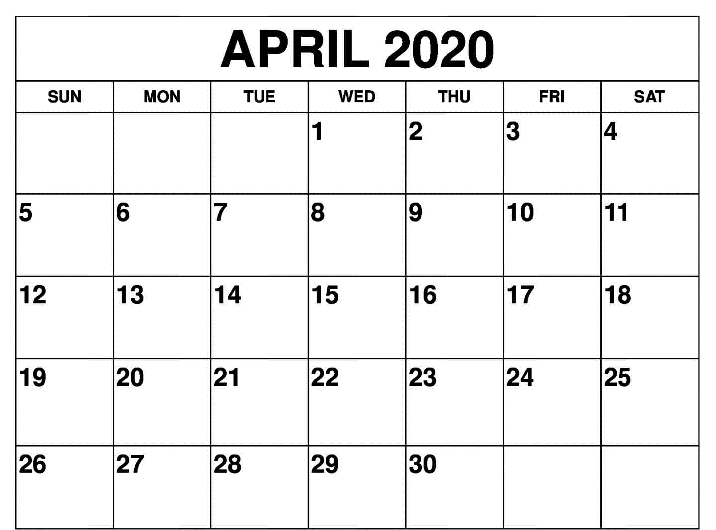 Wallpaper April 2020 Calendar With Holidays