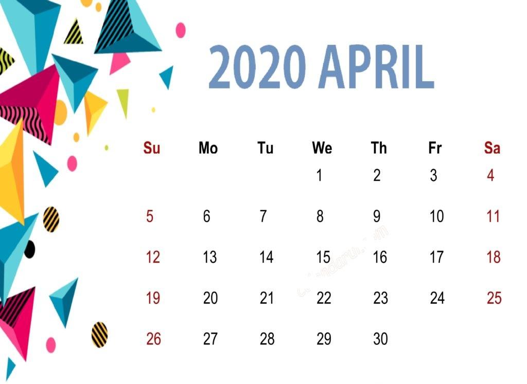 April 2020 Calendar Planner
