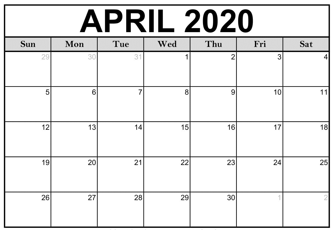 April Calendar 2020 (2)
