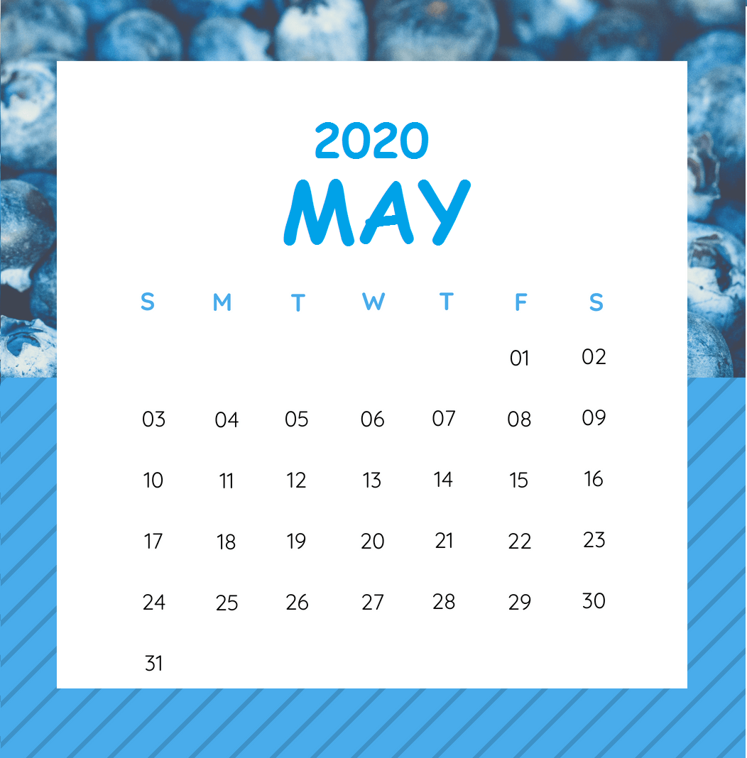 May 2020 Calendar Blank