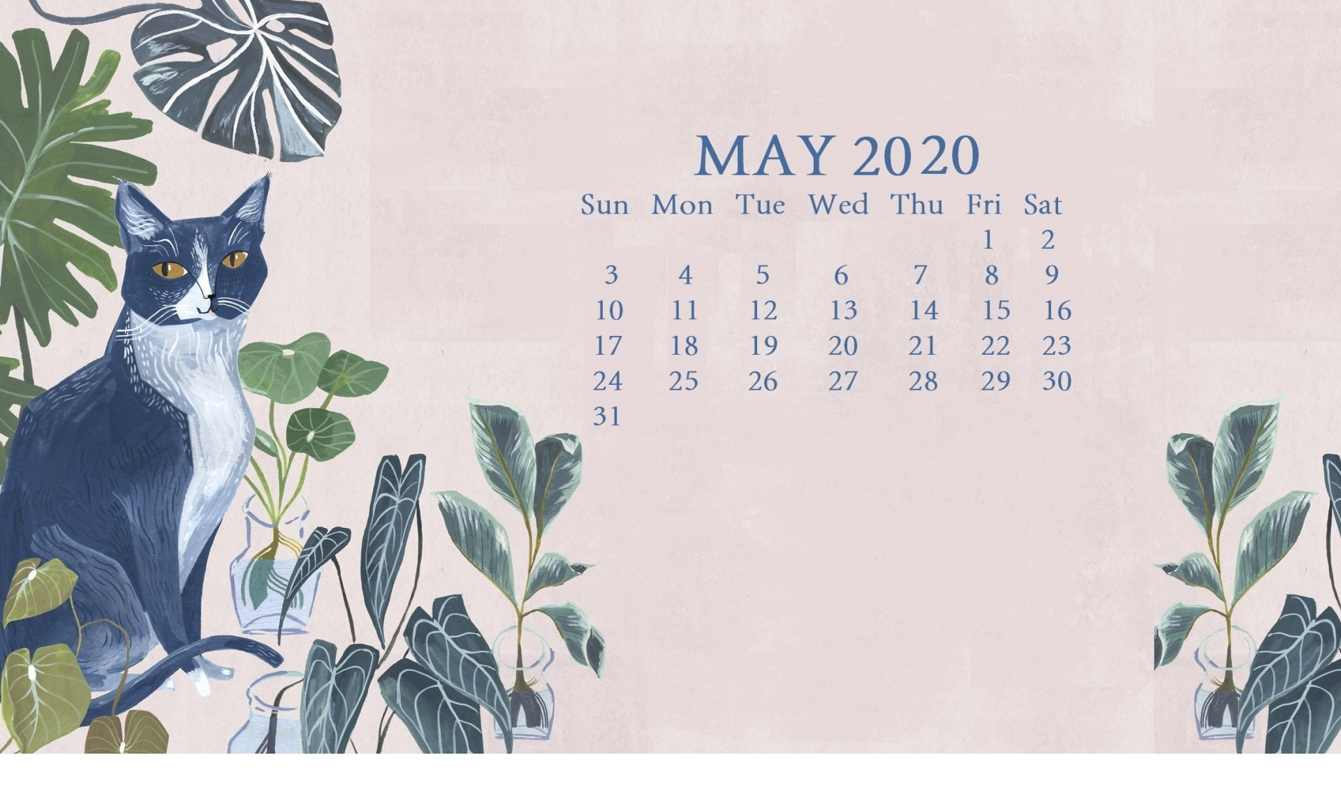 Printable May 2020 Calendar Free (