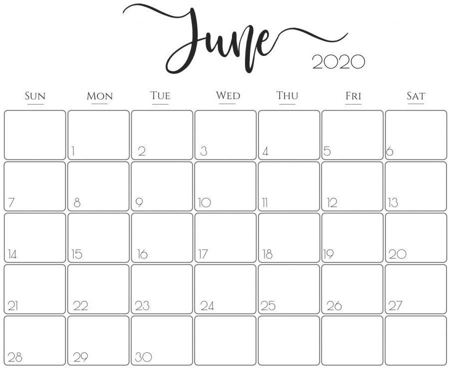 June Calendar 2020 PDF