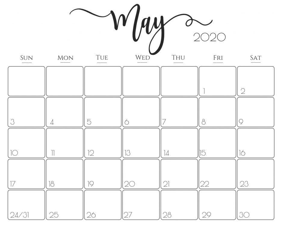 May Calendar 2020 ExcelMay Calendar 2020 Excel