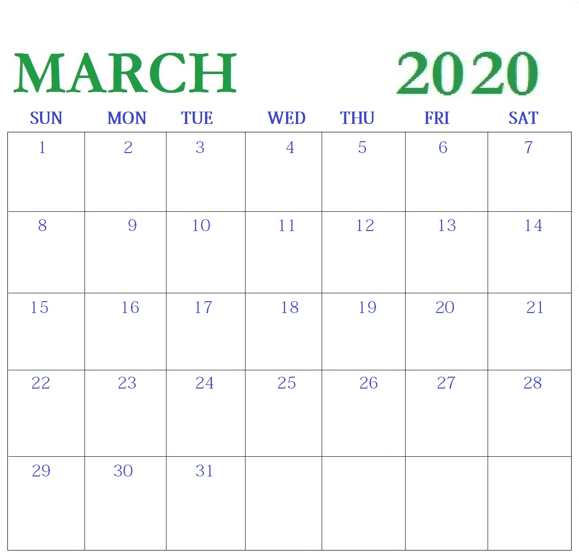 Printable May 2020 Calendar Excel