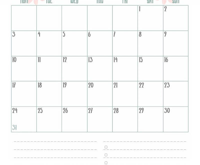 Calendar For August 2020 Holiday