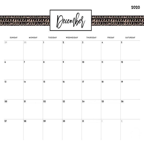 Calendar December 2020 With Holidays