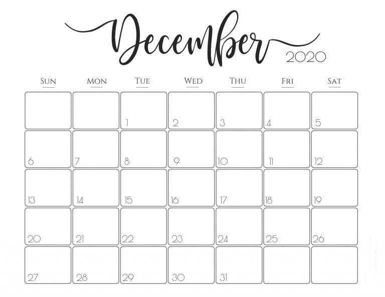 December 2020 Calendar With Holidays download