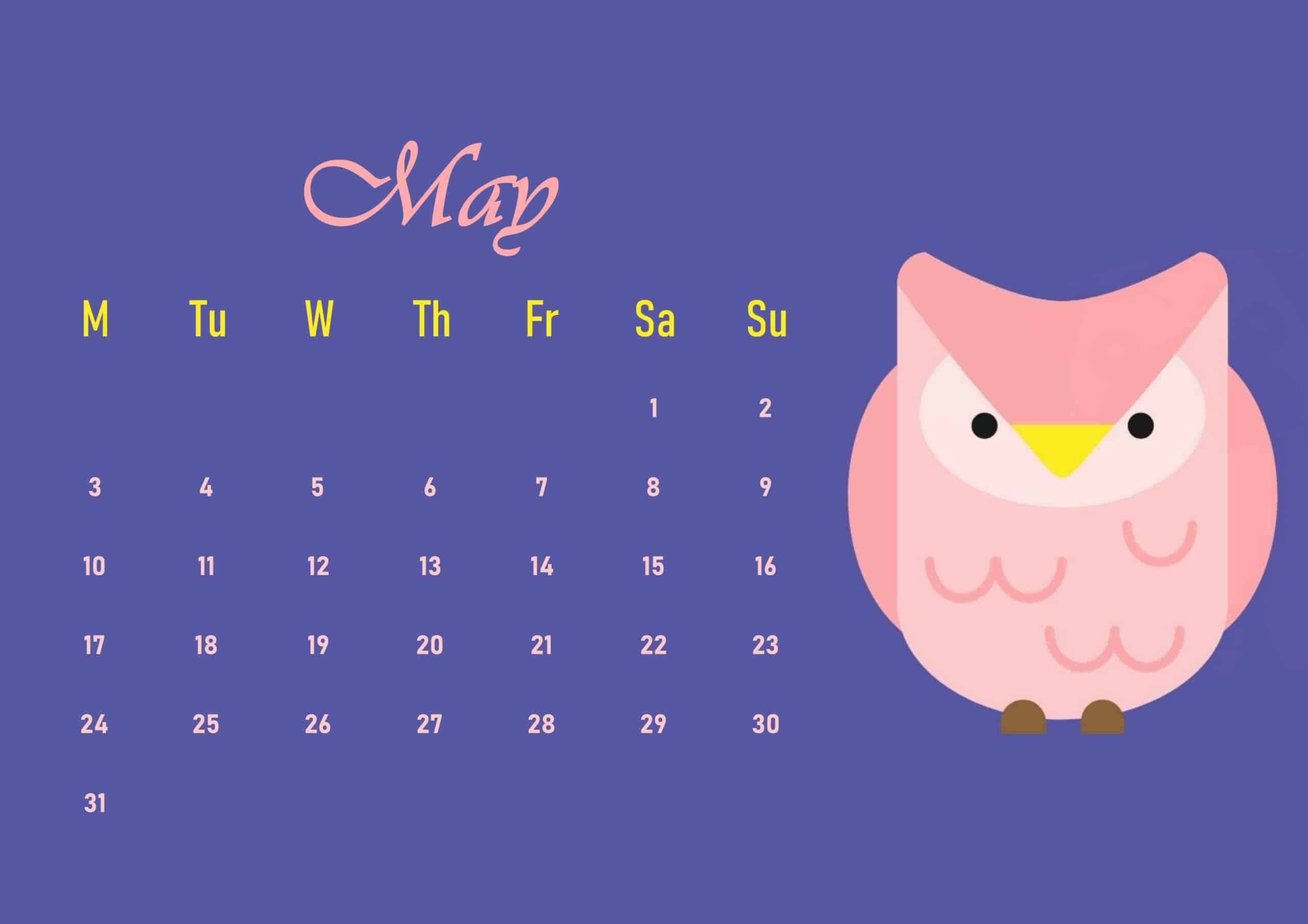 Cute 2021 May Calendar