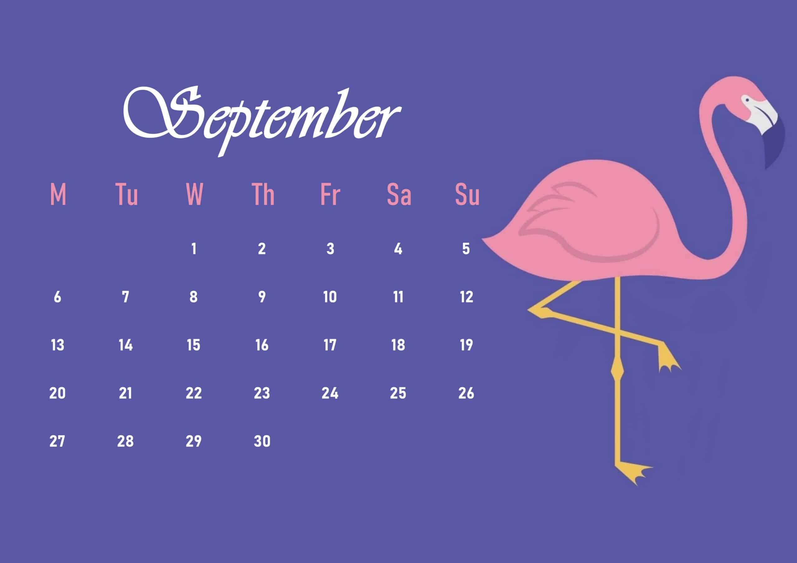 Cute 2021 September Calendar