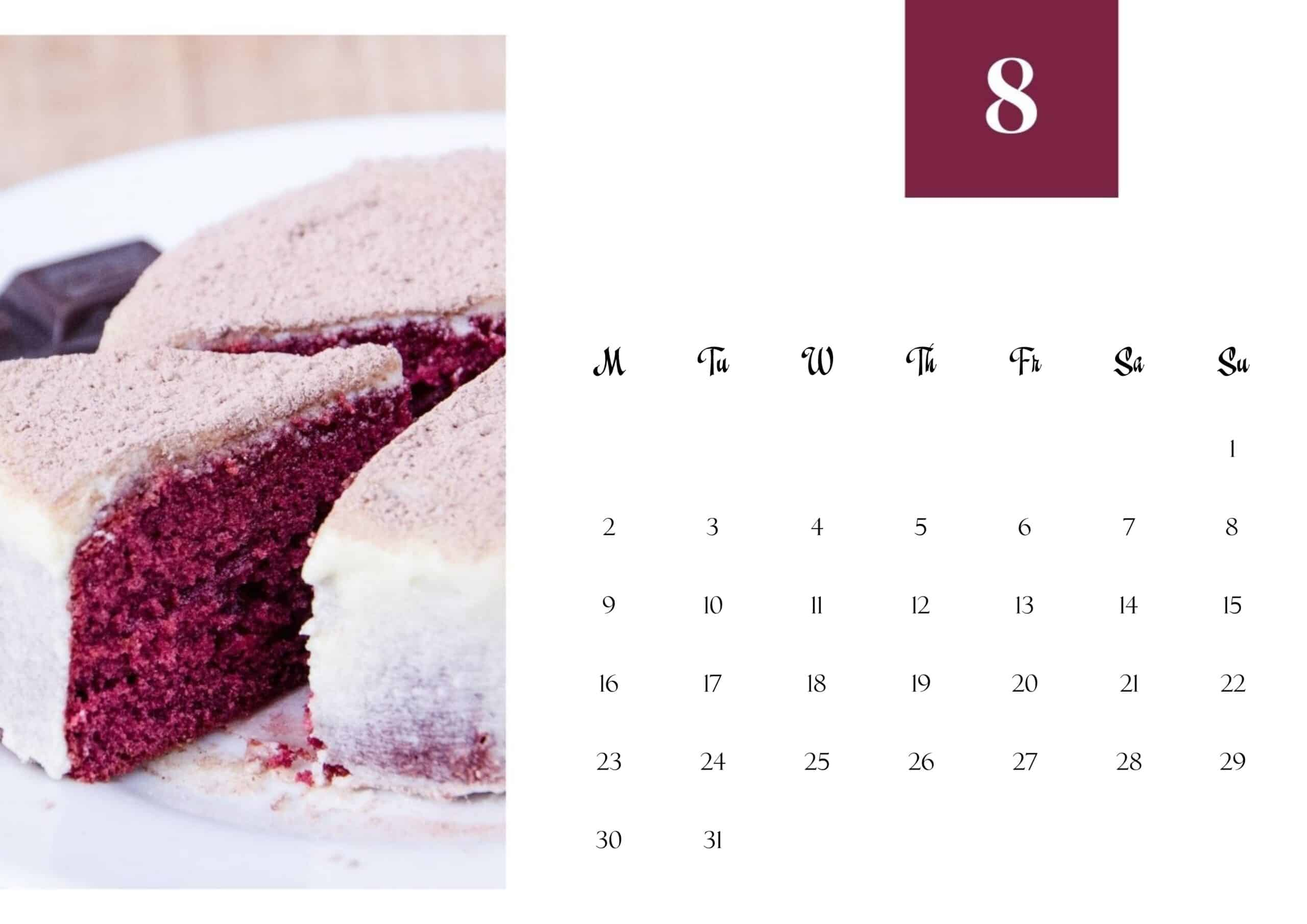 Cute August 2021 Calendar Wallpaper