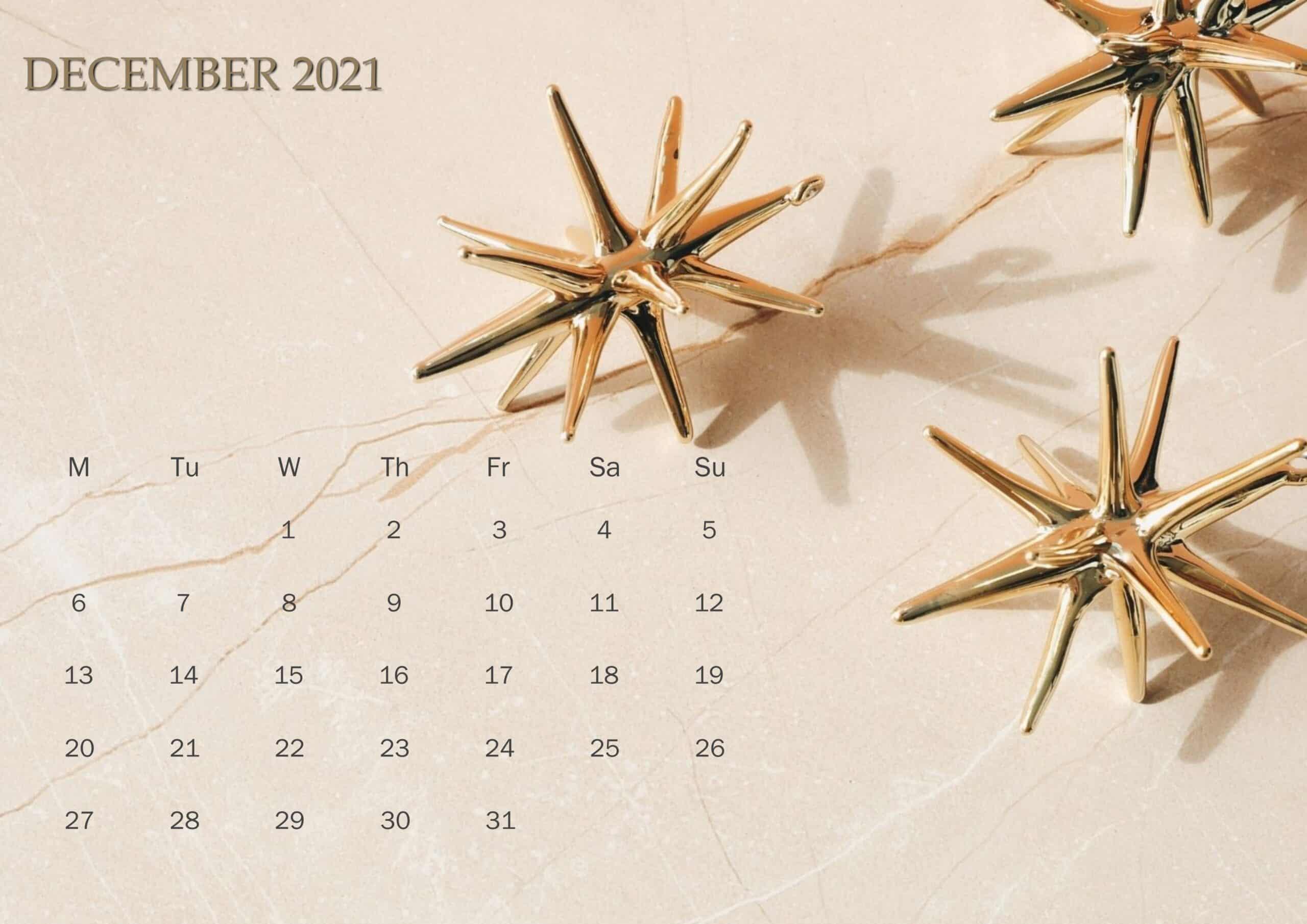 Cute Calendar December 2021