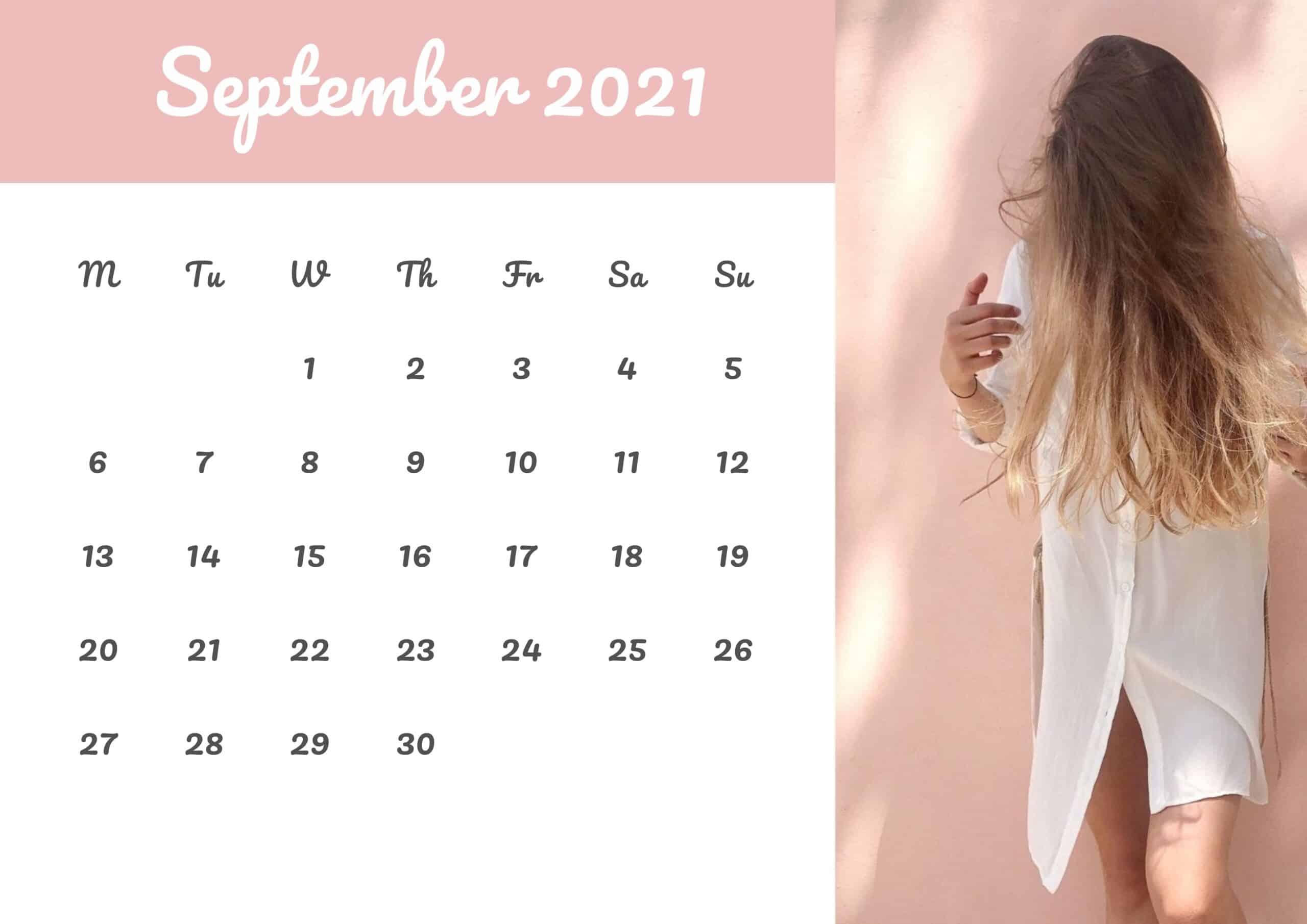 Cute Calendar September 2021 Free