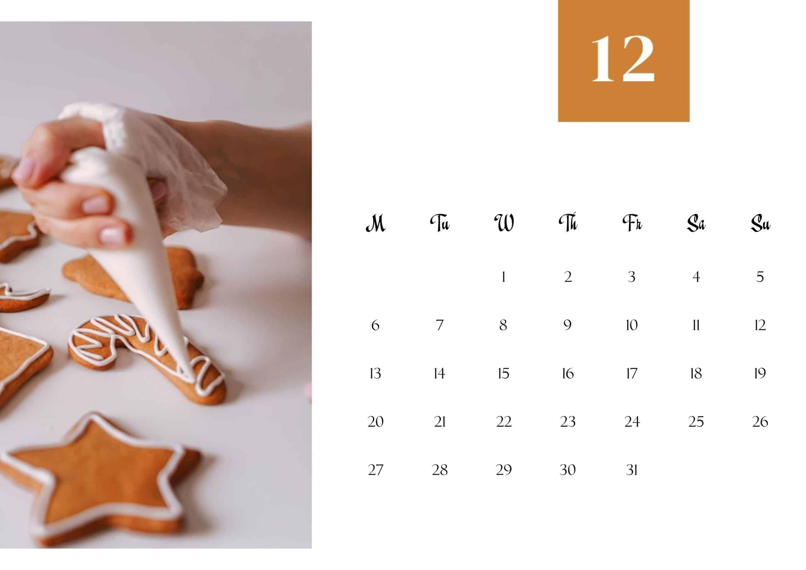 Cute December 2021 Calendar Wallpaper