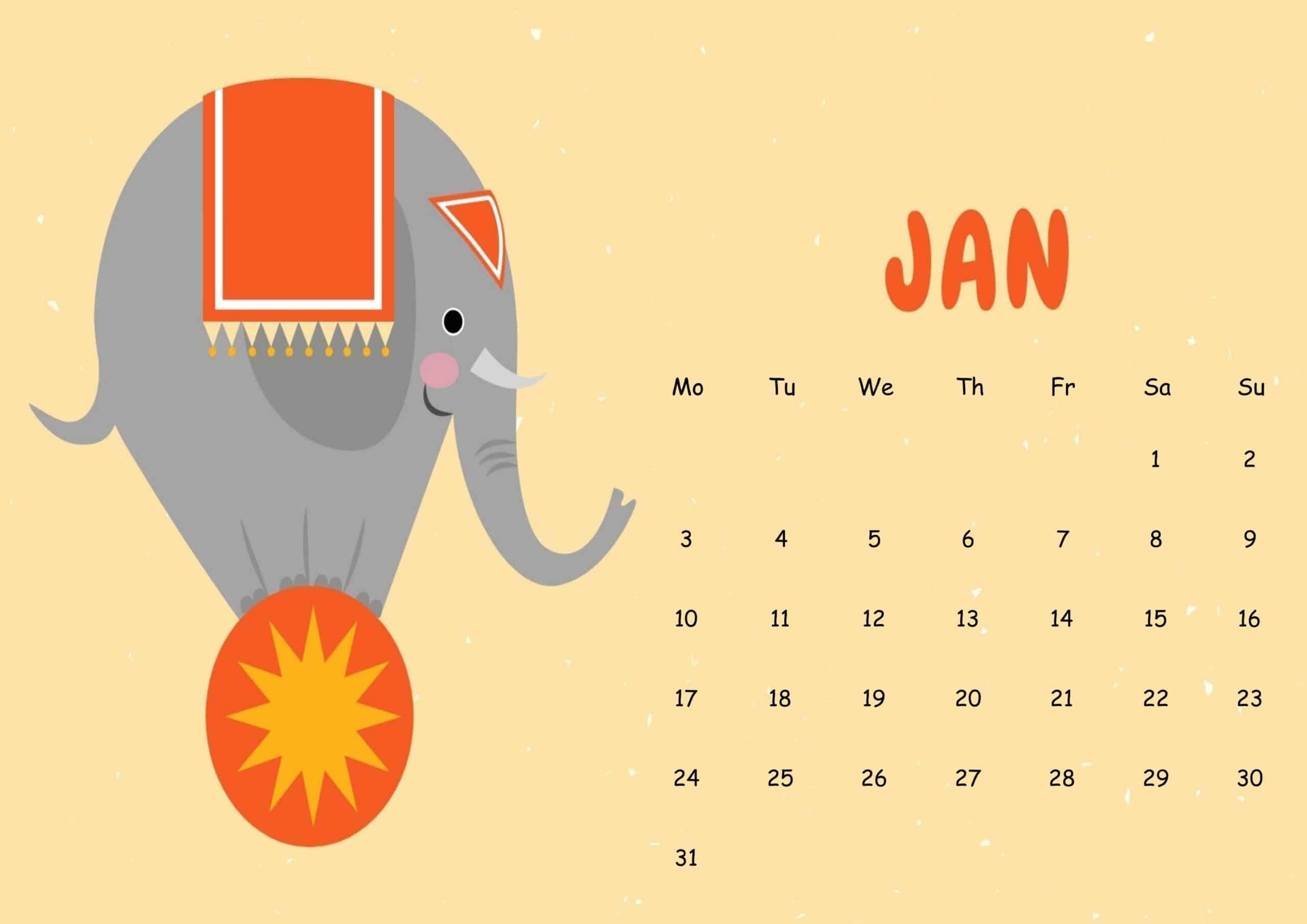 Cute 2022 Calendar.Cute Printable Calendar For January 2022 Free Printable Calendar