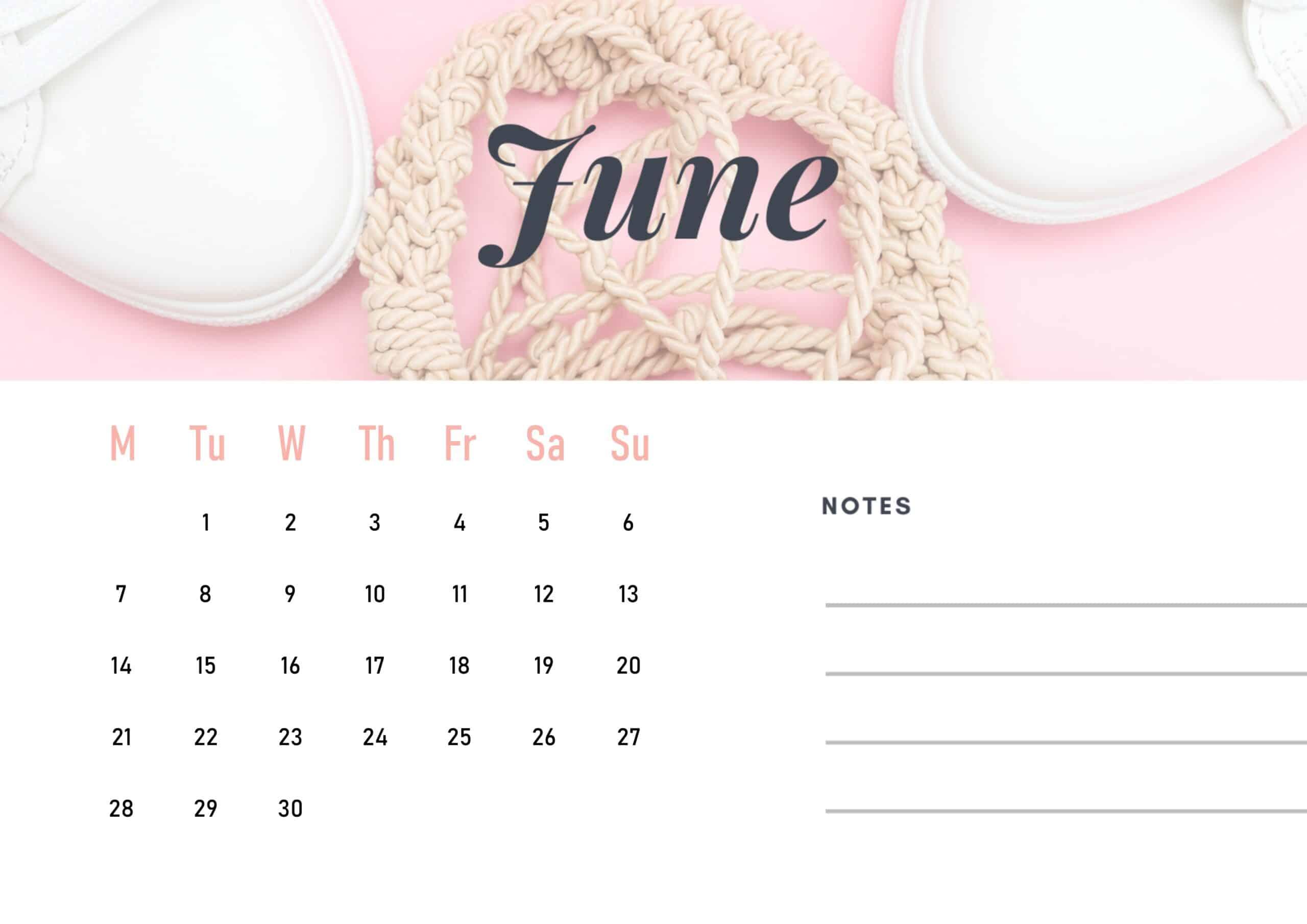 Cute June 2021 Calendar Wallpaper download