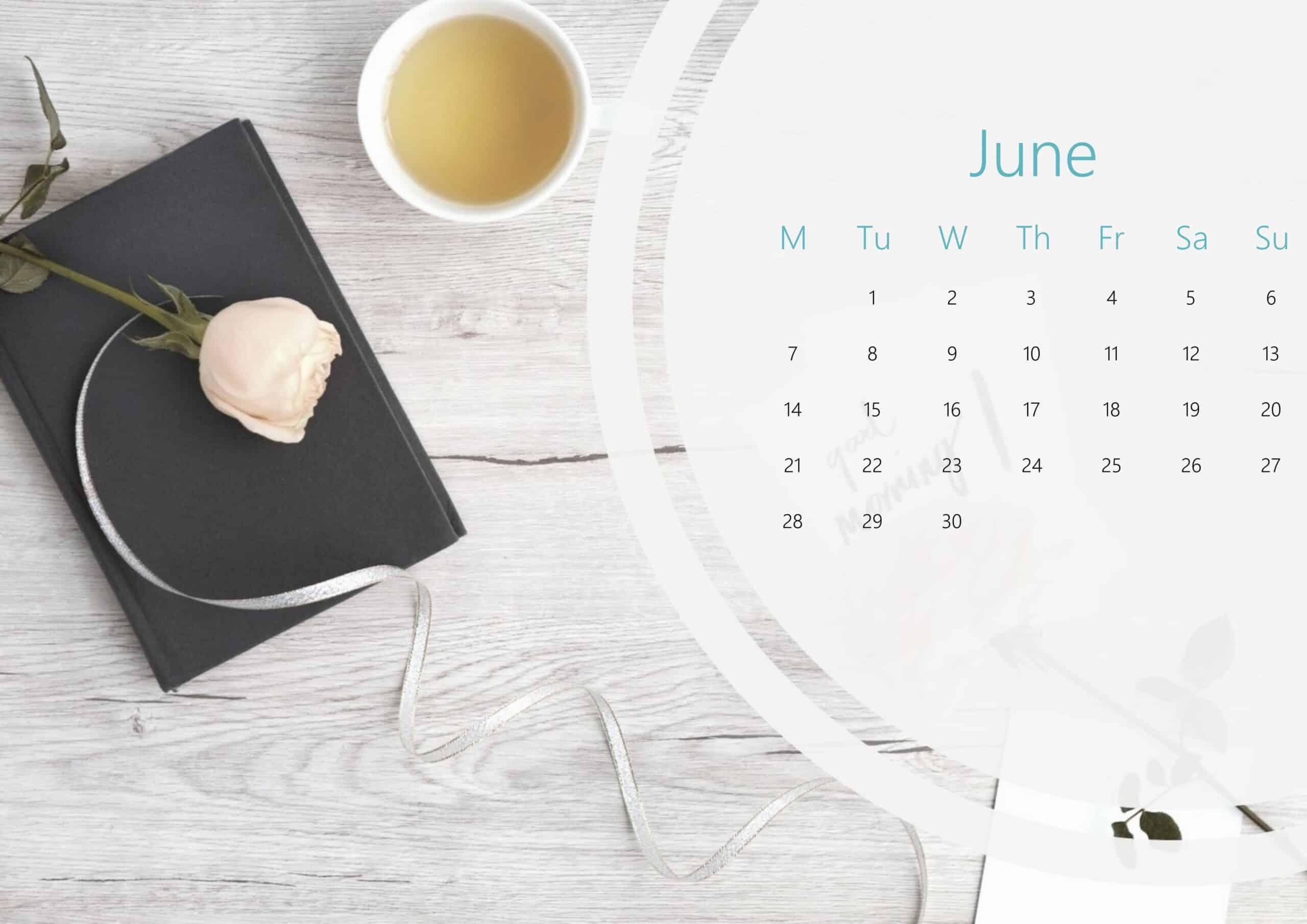 Cute June Calendar 2021