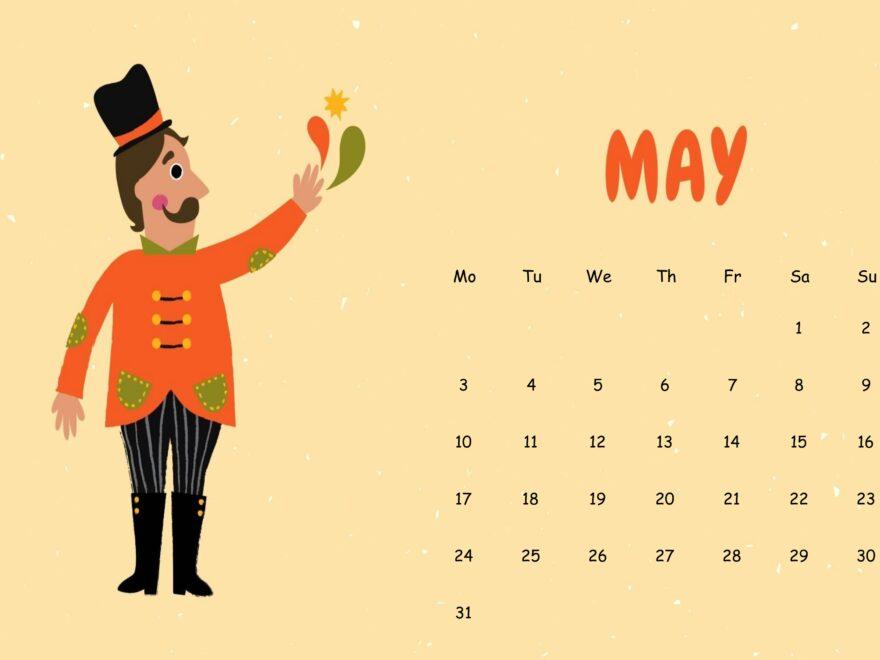 Cute May 2021 Calendar Sheet