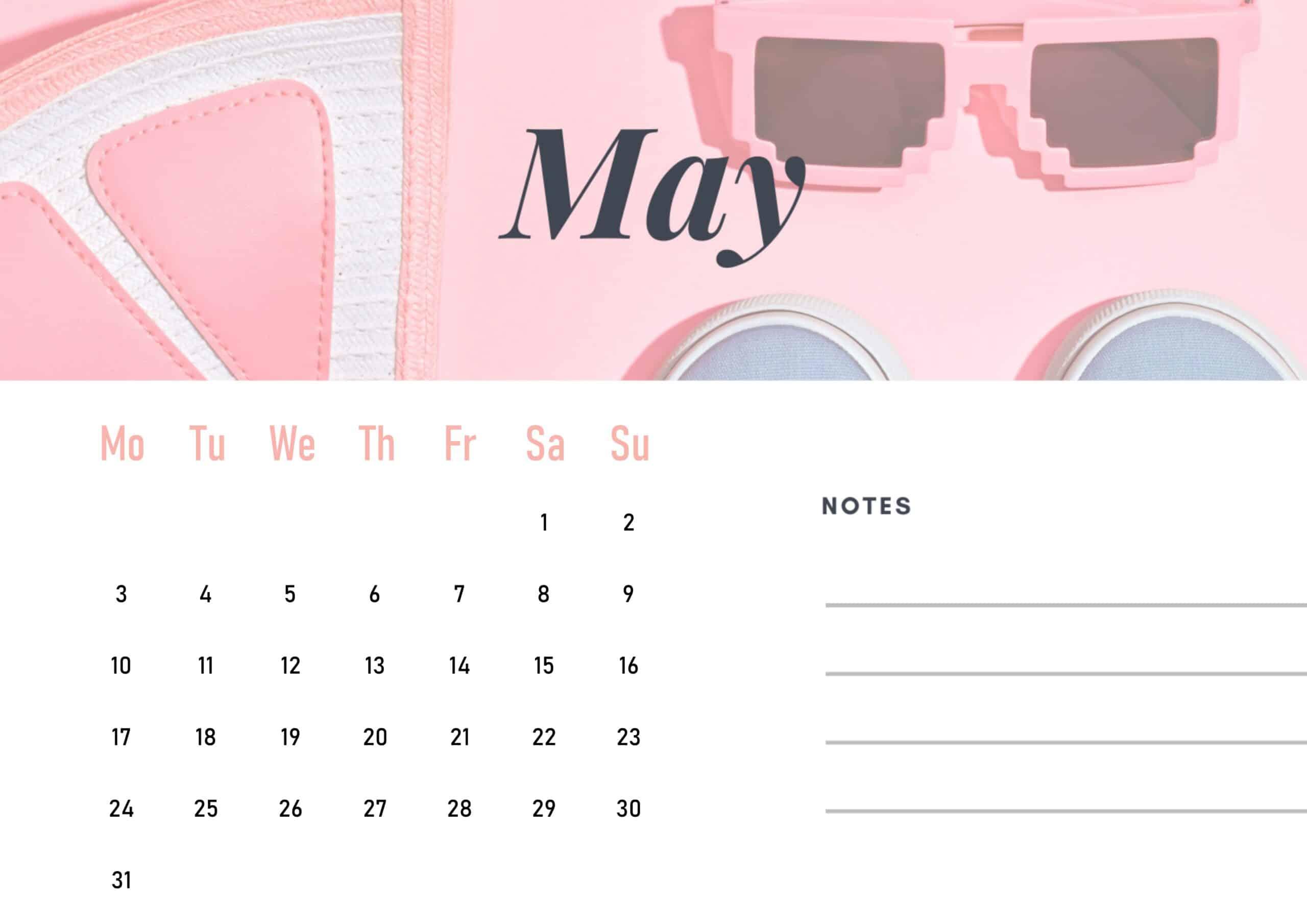 Cute May 2021 Calendar Wallpaper download