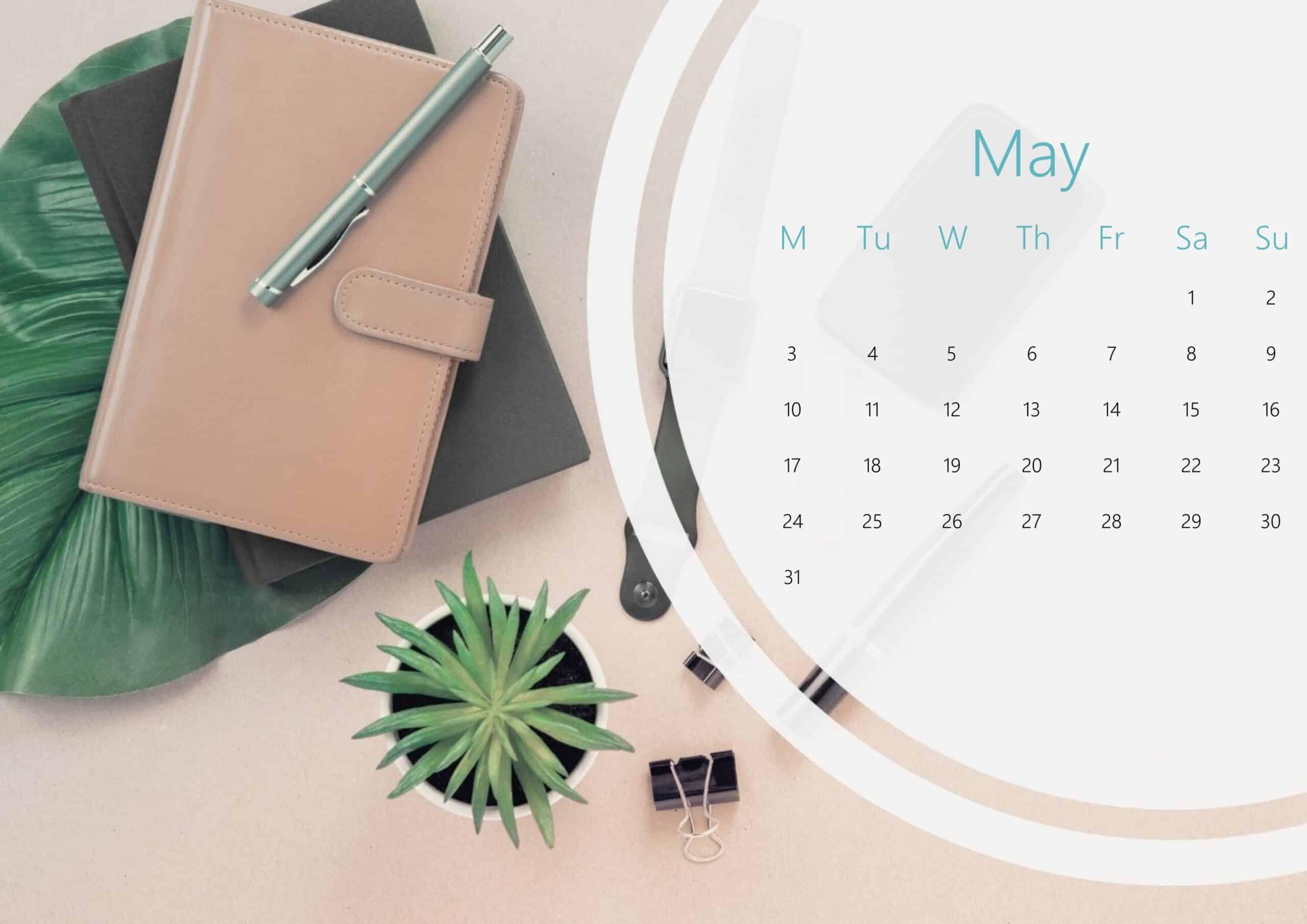 Cute May Calendar 2021